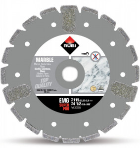 Disc diamantat galvanizat pt. marmura 115mm, EMG 115 SuperPro - RUBI-30995