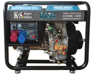Generator de curent 7.5 kW diesel - Heavy Duty - Konner & Sohnen - KS-9100DE-1/3-HD-ATSR