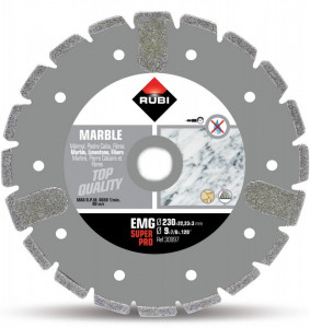 Disc diamantat galvanizat pt. marmura 230mm, EMG 230 SuperPro - RUBI-30997