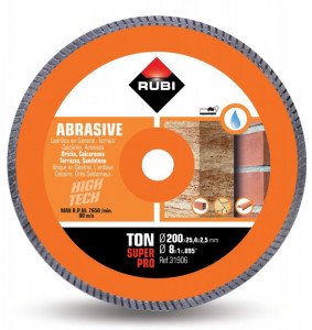 Disc diamantat pt. materiale abrazive 200mm, TON 200 SuperPro - RUBI-31906