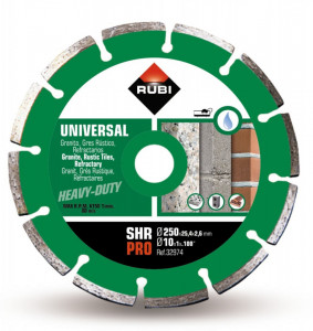 Disc diamantat pt. materiale de constructii 250mm, SHR 250 Pro - RUBI-32974