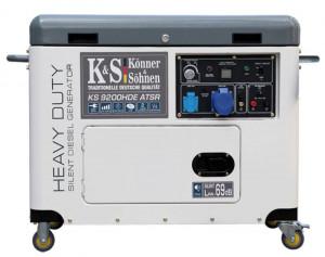 Generator de curent 6.8 kW diesel - Heavy Duty - insonorizat - Konner & Sohnen - KS-9200HDE-ATSR-Silent