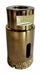 Carota diamantata pt. gresie portelanata & piatra - diam. 27mm - Super Premium - DXDH.80407.27