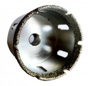 Carota diamantata pt. gresie portelanata & piatra - diam. 68mm - Super Premium - DXDH.80407.68