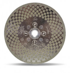 Disc diamantat galvanizat pt. taiat si slefuit 115mm, ECD 115 2in1 SuperPro - RUBI-31964