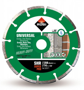 Disc diamantat pt. materiale de constructii 350mm, SHR 350 SuperPro - RUBI-32971