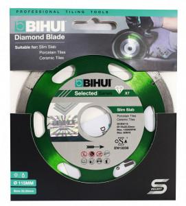 Disc Diamantat subtire pt. Portelan, Placi ceramice 115x22.2 (mm) Super Premium - BIHUI-DCDS115