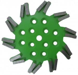 Disc stea cu segmenti diamantati pt. slefuire pardoseli - segment mediu - Verde - 250 mm - prindere 19mm - DXDH.8501.250.11.43