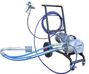Pompa de vopsit / zugravit AIRLESS Industriala cu Carucior - Complet Echipata - 8L/min - Larius Giotto