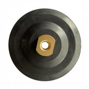 Suport flexibil pt. dischete / paduri diamantate cu velcro Ø100mm - prindere M14 - DXDY.PADSUP.RUB.100