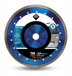 Disc diamantat pt. materiale foarte dure 230mm, TVA 230 SuperPro - RUBI-31935