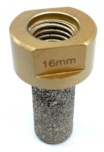 Freza tip deget pt. frezari in gresie portelanata si piatra - diametrul 16mm - prindere M14 - DXDY.GOLD.Finger