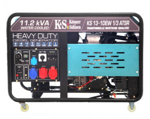 Generator de curent 9 KW diesel - Heavy Duty - Konner & Sohnen - KS-13-1DEW-1/3-ATSR