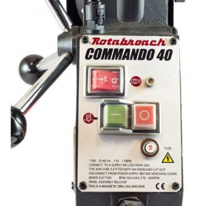 Masina de gaurit cu talpa magnetica 40mm, 1100W Rotabroach-Commando-40
