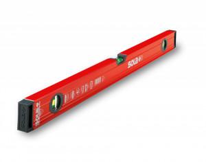 Nivelă cu bula ( Boloboc ) cu profil tubular, 80cm RED 3 80 - Sola-1215101