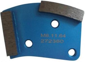 Placa cu segmenti diamantati pt. slefuire pardoseli - segment fin (albastru) - # 40 - prindere M8 - DXDH.8508.11.64