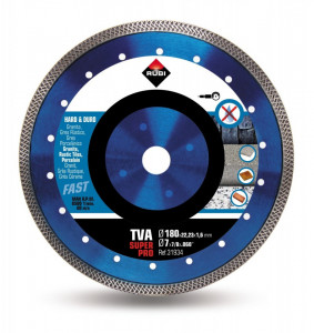 Disc diamantat pt. materiale foarte dure 180mm, TVA 180 SuperPro - RUBI-31934