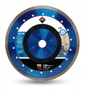 Disc diamantat pt. materiale foarte dure 350mm, TVH 350 SuperPro - RUBI-31939