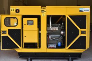 Generator stationar insonorizat DIESEL, 77kVA, motor Ricardo, Kaplan KPR-75