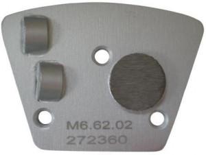 Placa cu segmenti diamantati pt. slefuire pardoseli - segment DPC 2x1/4 - prindere M6 - DXDH.8506.73.02-R