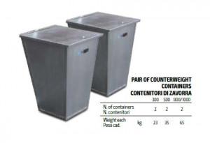 Set Containere Balast Contragreutate Electropalan 500kg - IORI-BC500