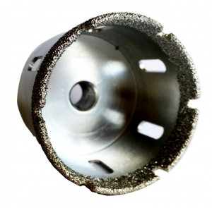Carota diamantata pt. gresie portelanata & piatra - diam. 75mm - Super Premium - DXDH.80407.75