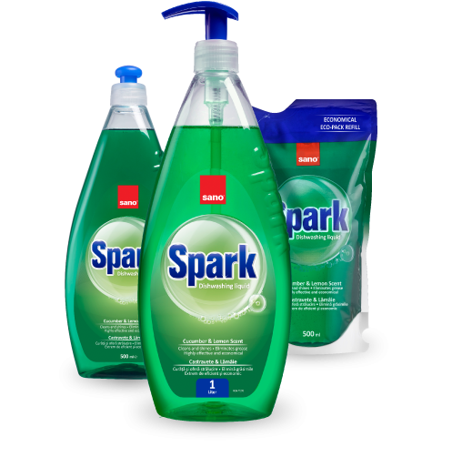 Detergent de vase Sano Spark Castravete colectia