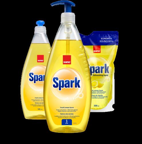 Detergent de vase Sano Spark Lamaie  colectia