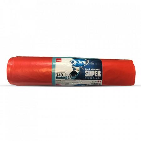 Saci menajeri 240 L rosii Sano Optima Super 7290014006829