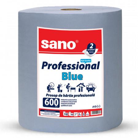 Prosop din hartie Sano Professional Blue 2 straturi 600 foi
