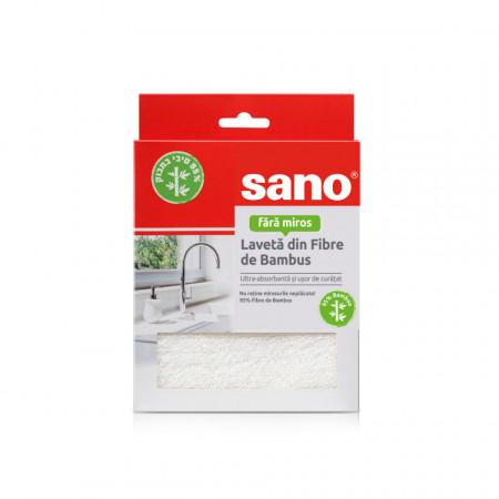 Laveta de bucatarie Sano din fibre de bambus 7290108352818