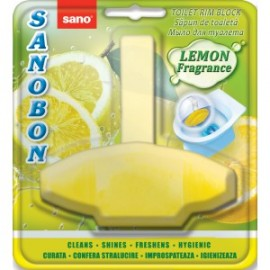 Odorizant WC solid Sano Bon Lemon 4in1 55g