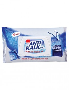 Lavete umede anti calcar si rugina Sano Anti Kalk Wipes 50buc