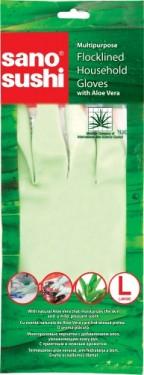 Manusi menaj din cauciu cu aloe vera Sano Sushi - L 7290010883356