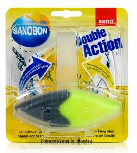 Odorizant WC Sano Bon Blue Double Action 55g - Lamaie