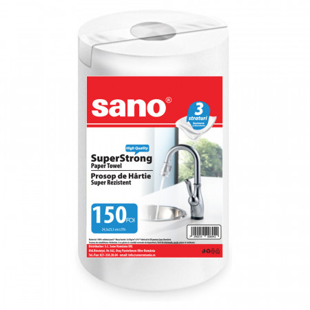 Prosop din hartie Sano Super Strong 3 straturi 150 bucati