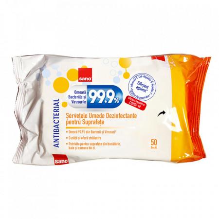 Șervețele dezinfectante antibacteriene Sano 7290102993161
