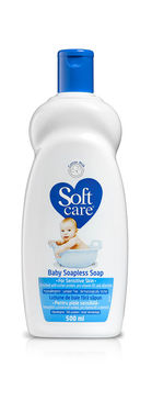 Lotiune de baie fara sapun blue Soft Care 500 ml