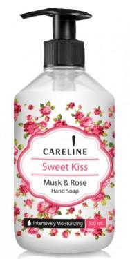 Sapun lichid cu parfum mosc & trandafiri Careline Sweet Kiss - 500ml