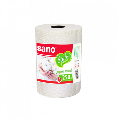 Prosop de hartie monorola Sano Style 2 straturi 250 foi 7290014007147
