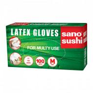 Manusi de unica folosinta din latex pudrate L Sano Sushi 100 buc