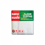 Laveta microfibre pentru pardoseli Sano Sushi ZigZag 50x80 4 buc