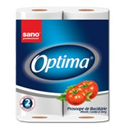 Prosop din hartie Sano Optima Soft White 2 role x 50 foi