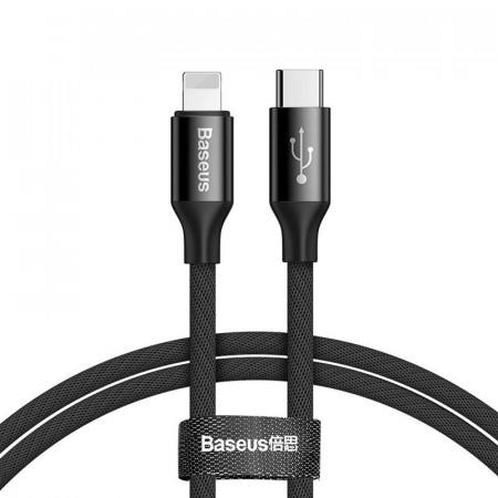 Cablu Baseus Yiven USB-C do Lightning 1m 2A (negru)