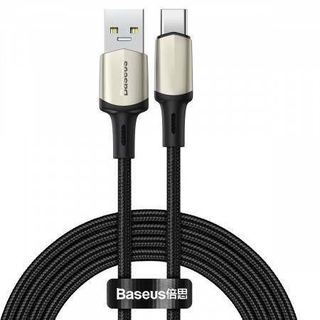 Cablu USB-C Baseus Cafule, VOOC, QC, 5A, 2m (negru)