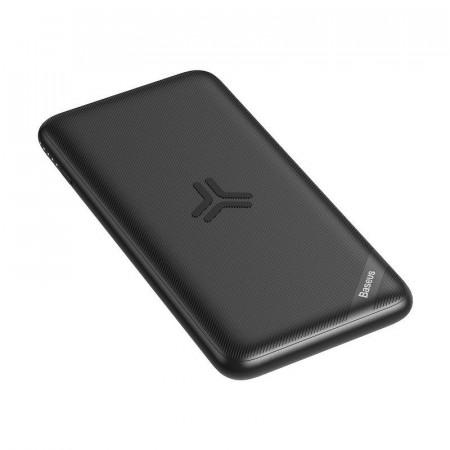 Powerbank Baseus S10 cu incarcare wireless, 10000mAh, 18W, USB (negru)