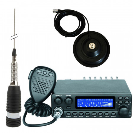 Promotie statie radio CB Avanti Kappa + antena CB Sirio ML 145 + baza magnetica 145 PL