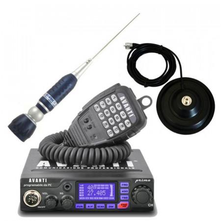 Promotie statie radio CB Avanti Primo + antena CB Sirio Turbo 2000 + baza magnetica