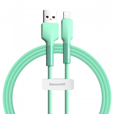 Cablu Lightning USB Baseus Silica Gel, 2.4A, 1m (verde)