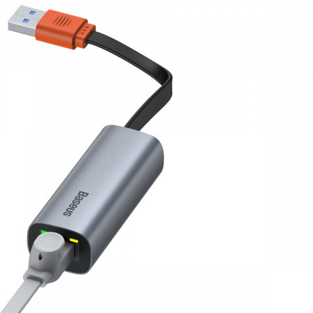 Placa retea Baseus Steel Cannon USB - LAN, Gigabit (gri)